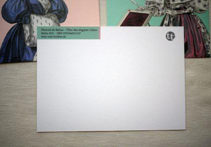 Balzac Postkarten Rueckseite