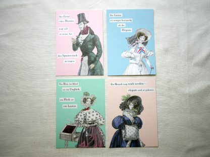 Postkarten Balzac Ueber das elegante Leben